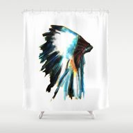 Headdress Shower Curtain