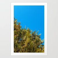 Green, Yellow and Blue, the tree Art Print