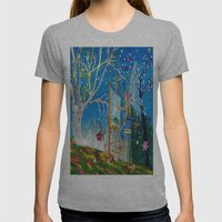 Fairy Artist Womens Fitted Tee Athletic Grey SMALL