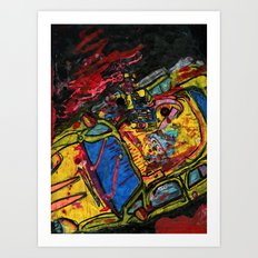 Car Wreck Art Print
