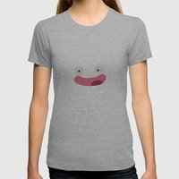 Funny Face Womens Fitted Tee Athletic Grey SMALL