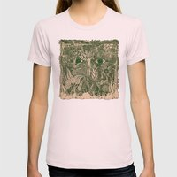 Gaia Mandala Womens Fitted Tee Light Pink SMALL