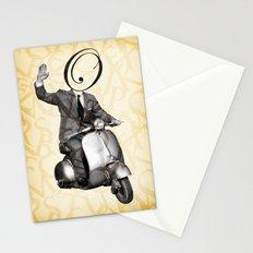 Mr O on his vespa Stationery Cards