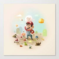 Too Super Mario Canvas Print