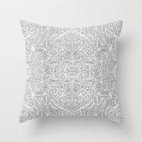 Frost & Ash - An Art Nou… Throw Pillow