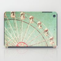 Ferris Wheel on Blue Textured Sky  iPad Case