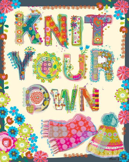 Knit Your Own Canvas Print