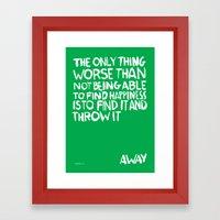 ...Away (Vers. 2) Framed Art Print