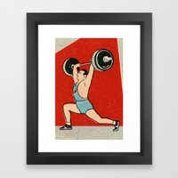 Muscle Man Framed Art Print