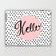 Hello Dots Hand Lettering - pink Laptop & iPad Skin