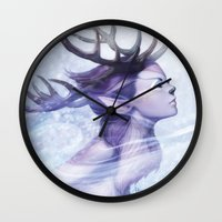 Deer Princess Wall Clock