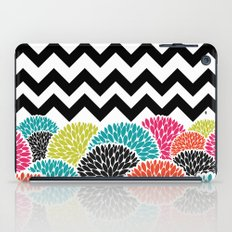 Tropical Flowers Chevron iPad Case