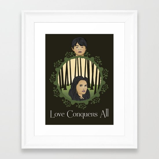 Once Upon A Time - Two Halves, One Whole Framed Art Print