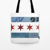 Ephemeral Chicago Flag Tote Bag