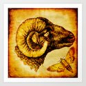 The mystic sheep Art Print