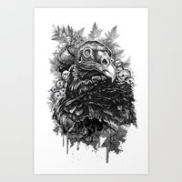 Vulture and Pine Art Print