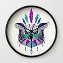 owl king Wall Clock