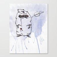 Little Lollipop Monster Canvas Print
