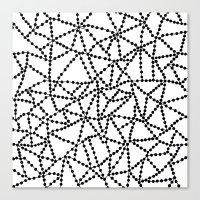Dots Connect Canvas Print