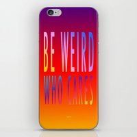 WHO CARES iPhone & iPod Skin