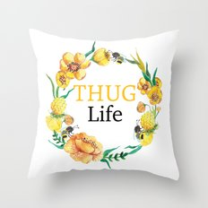 Living Dangerously - Yellow Throw Pillow