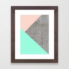 Concrete Collage Framed Art Print