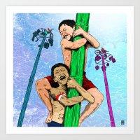 Panjat Pinang Art Print