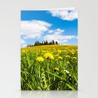 Dandelion field Stationery Cards