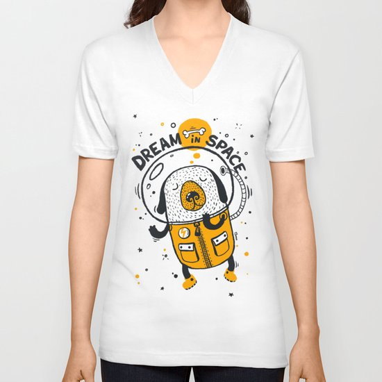 Dream in space V-neck T-shirt