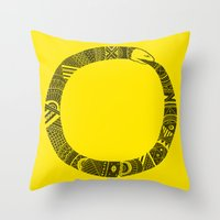 Snake Sleeve Throw Pillow
