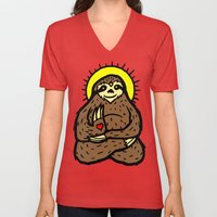 Buddha Sloth Unisex V-Neck