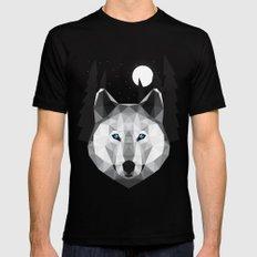 The Tundra Wolf MEDIUM Black Mens Fitted Tee
