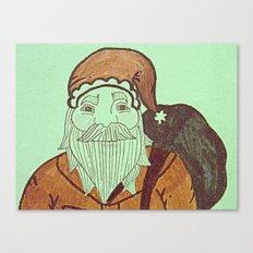 Jolly Old Santa Claus, Merry Christmas. Canvas Print