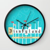 Park Entrance | Disney I… Wall Clock