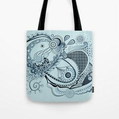 Spring tangle, colony blue Tote Bag