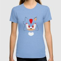 Shadow the Hedgehog Womens Fitted Tee Tri-Blue SMALL
