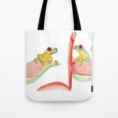 three little frogs Tote Bag