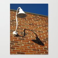 White Lamp With A Dark Secret Canvas Print