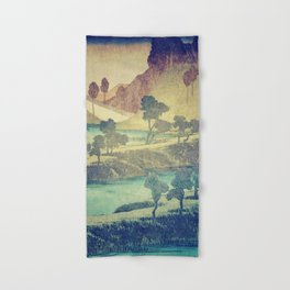 Hand & Bath Towel - A Valley in the Evening - Kijiermono