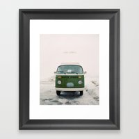 LIVE SIMPLY. Vintage Vol… Framed Art Print