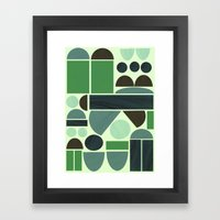 Town Hall (Green) Framed Art Print