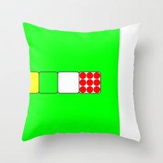 Tour de France Jerseys 2 Green Throw Pillow