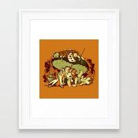 STONED IN WONDERLAND [REMIX] Framed Art Print