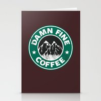 Damn Fine Coffee Stationery Cards