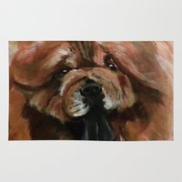 Chow dog portrait Rug