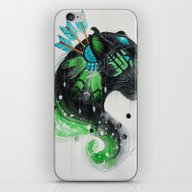 iPhone & iPod Skin featuring Warrior Panther by Jonna Lamminaho