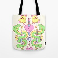 Snakes&daggers&dogheads&… Tote Bag
