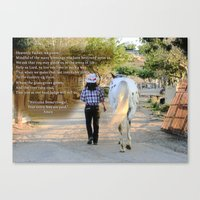 The Cowgirl's Prayer Canvas Print