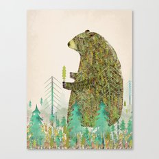 the forest keeper Canvas Print