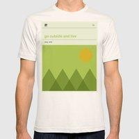 Go Outside and Live Mens Fitted Tee Natural SMALL